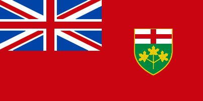 Flag of the Province of Ontario, Canada.