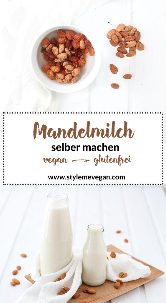Mandelmilch selber machen {Rezept} #vegan #diy