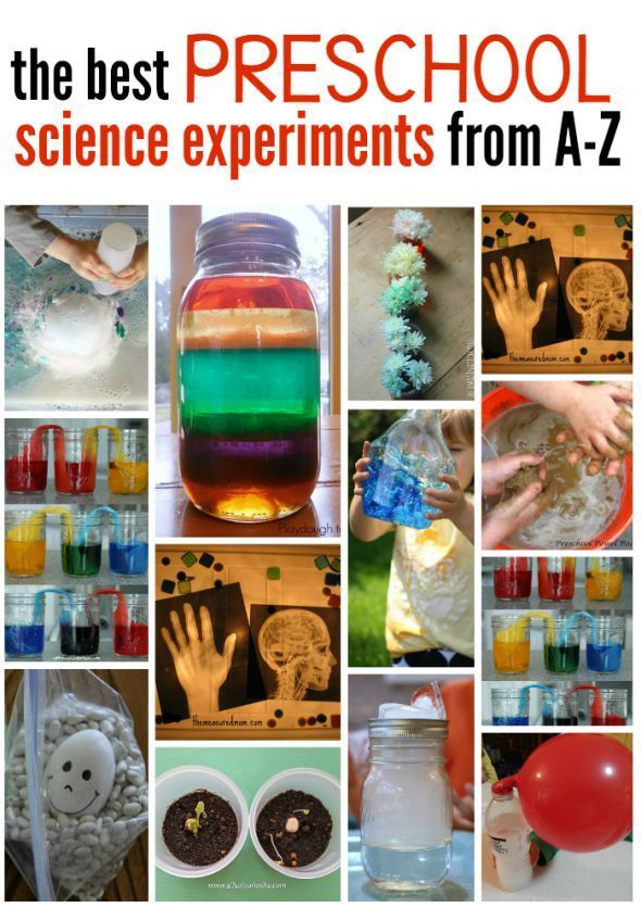These are our favorite science experiments for preschoolers, from A-Z!