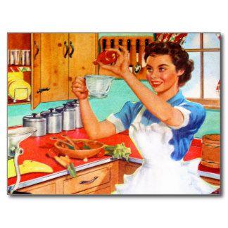 Cuisine cuisine vintage look r tro assur pinterest for Affiche cuisine retro