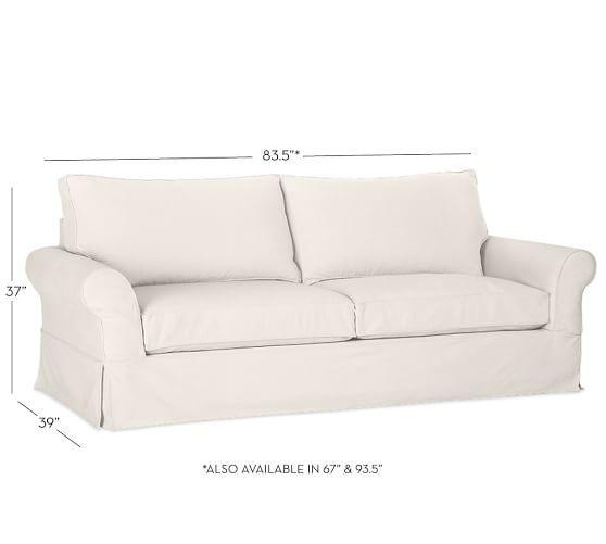 PB Comfort Roll Arm Slipcovered Sofa Collection | Pottery Barn
