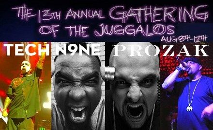 WHOOP WHOOP! – Tech N9ne And Prozak To Take The Main Stage At The Gathering Of The Juggalos 2012