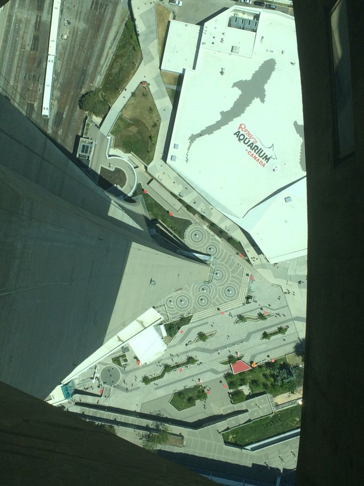 At top of CN Tower looking down.....