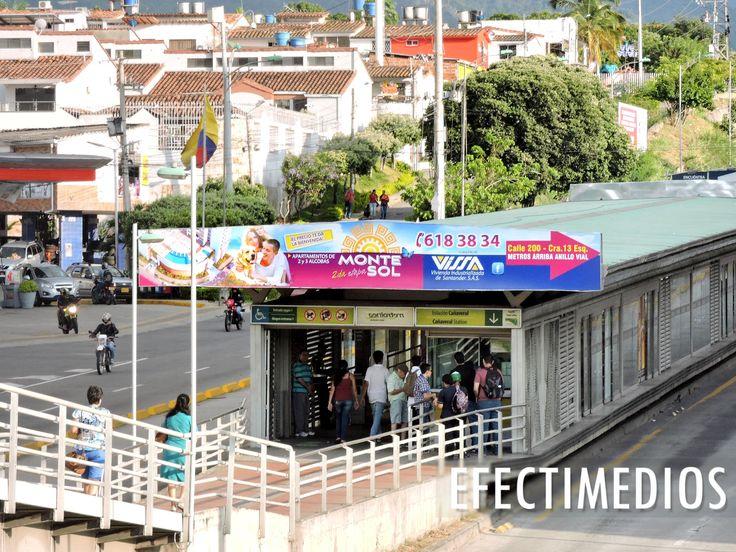 Grandes audiencias para campañas de consumo masivo en Medios OOH - Sistema Integrado de Transporte Masivo Metrolínea - Bucaramanga https://goo.gl/kOqorn