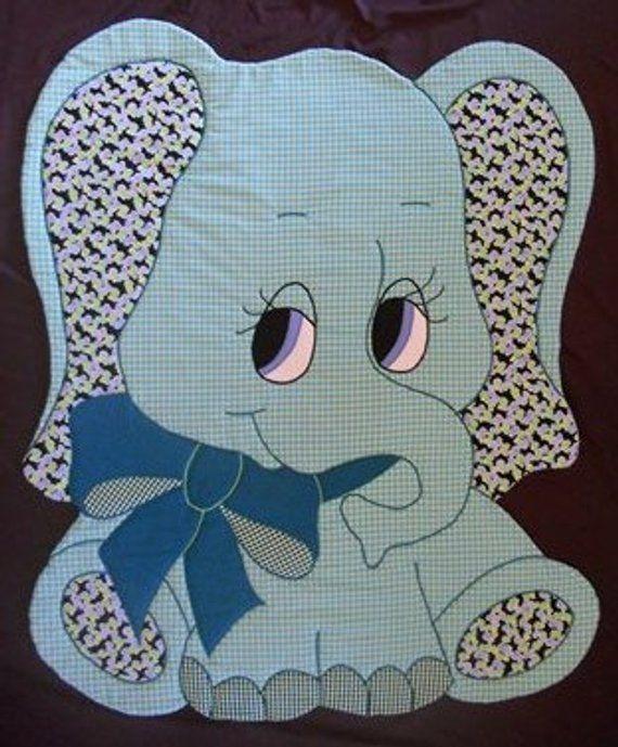 Elephant Quilt Pattern Baby Blanket Patern Quilt Boy Girl