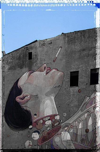mural z ul. Roosevelta.   fot. Marcin Wasilewski
