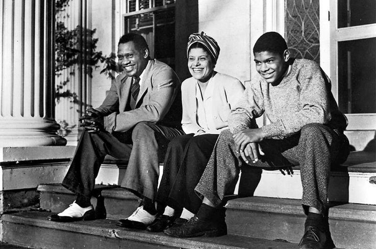 Mr. & Mrs. Paul Robeson & Paul Robeson Jr. Enfield, Connecticut 1941