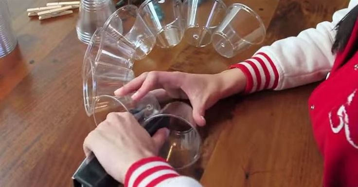 When He Staples Plastic Cups Together, It Becomes Something Brilliant