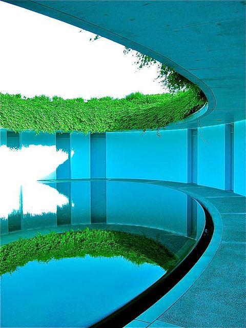 Oval room, 直島ベネッセハウス, Hotel Benesse House, Naoshima, Japan
