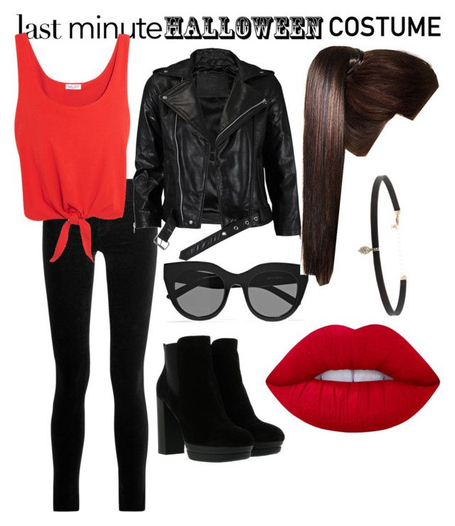 """Last Minute Halloween Costume:50s Biker Girl"" by amerella on Polyvore featuring J Brand, VIPARO, Splendid, Hogan, Le Specs, Lime Crime and Carbon & Hyde"