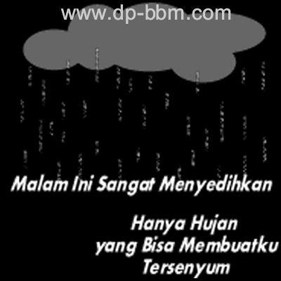 Gambar Animasi DP BBM Hujan di malam minggu