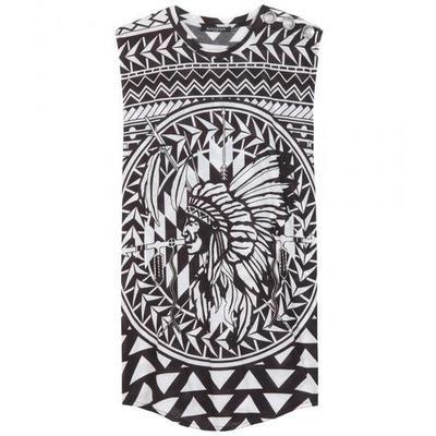 Balmain - Printed cotton top #printedtop #balmain #women #covetme