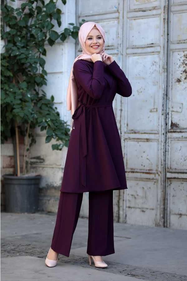 Ahenk Tunik Pantolon Takim Modelleri Moda Tesettur Giyim 2020 Moda Moda Stilleri Giyim