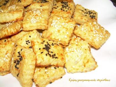 Κρήτη:γαστρονομικός περίπλους: Πανεύκολα αλμυρά μπισκοτάκια με ελαιόλαδο και τυρί