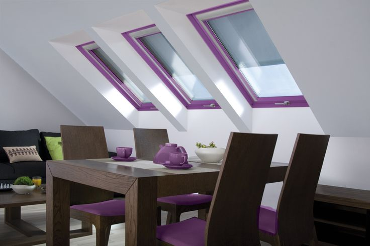 Glamour windows #radiantorchid #interiordesign #pantone2014