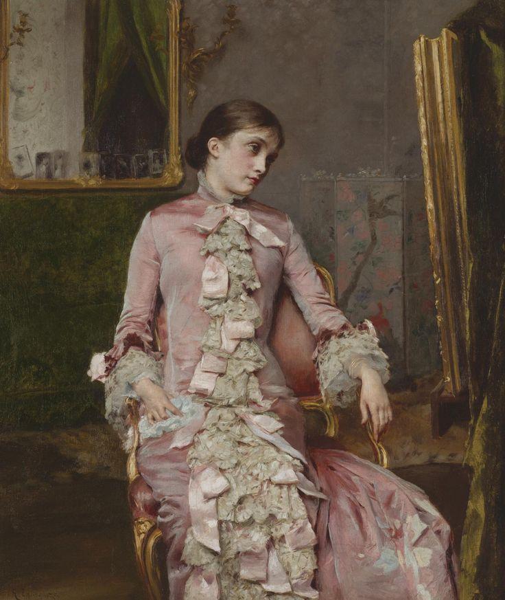"""Lady in Pink"", Rogelio de Egusquiza, ca. 1870's"