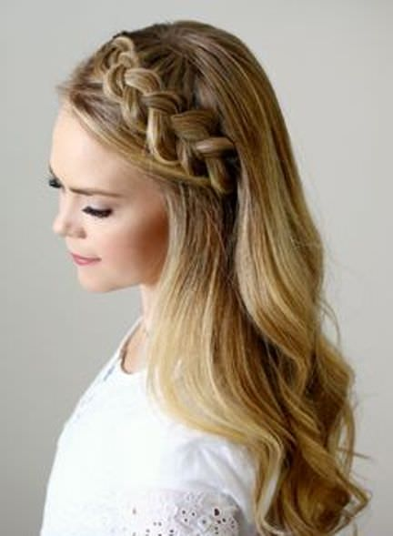Go Ravishing with a Thicker Tiara Braid Head Band Hairstyles