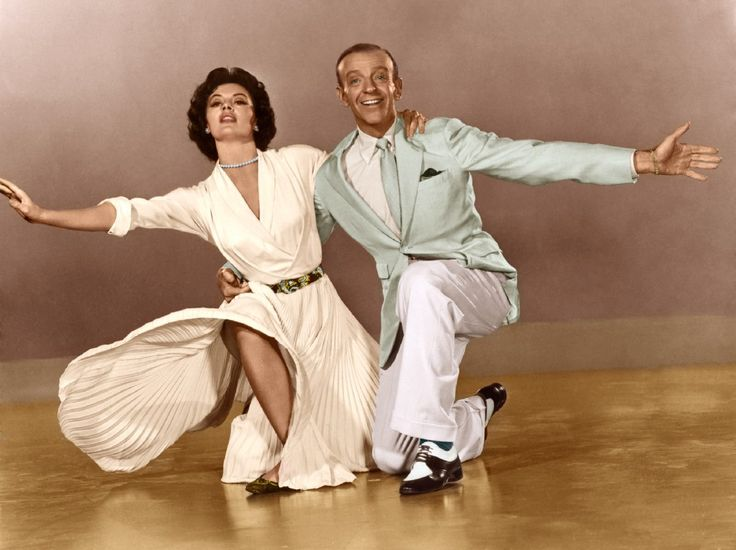 "Cyd Charisse and Fred Astaire in a promo shot for ""Band Wagon"""