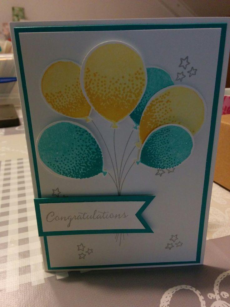 Verjaardagskaart met Balloon Celebration - Het Knutsellab