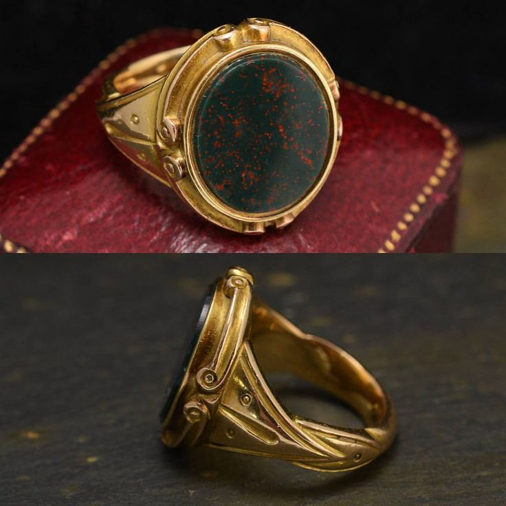 """656 Likes, 12 Comments - Butter Lane Antiques (@_butterlaneantiques) on Instagram: """"Sold.......A superb quality #antique signet ring, with an oval #bloodstone panel that remains…"""""""