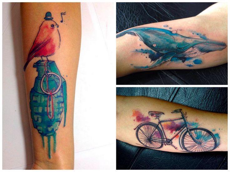 Questões de Opinião: As Incríveis Tatuagens estilo Aquarela de Victor Octaviano