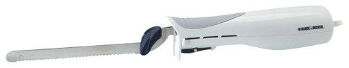 Black & Decker - Slice Right Electric Knife - White, EK700