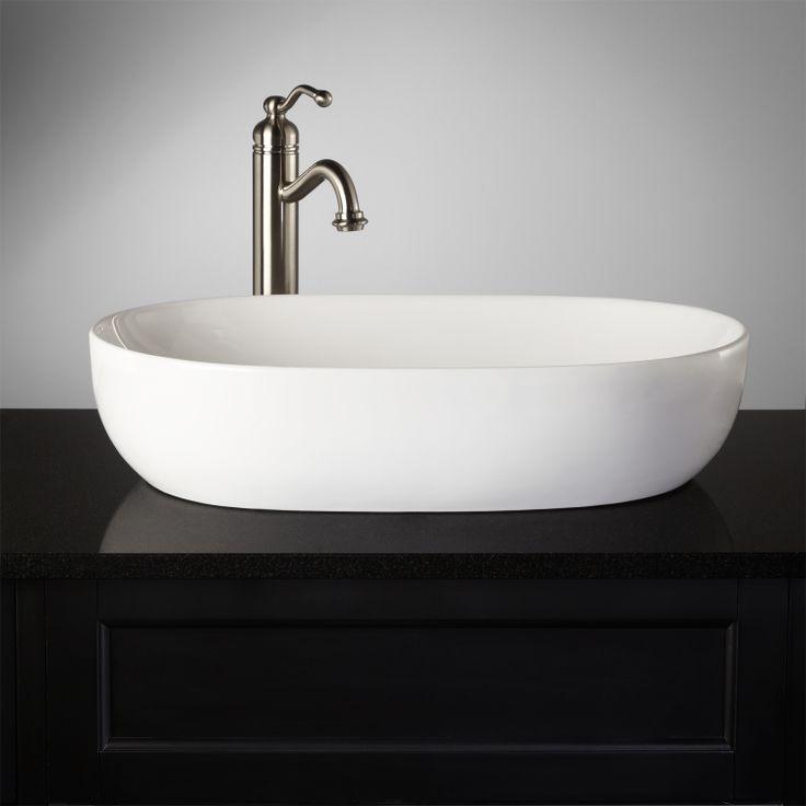 17 best images about narrowbathroom on pinterest 2nd for Master bathroom vessel sink