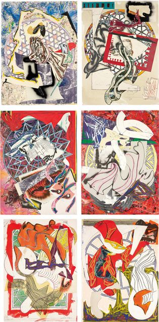 Frank Stella | Waves I and II: six works (1989) | Available for Sale | Artsy