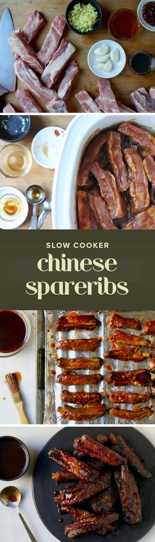 Swap the take-out and put your slow-cooker to good use with this easy Chinese recipe for spareribs.