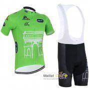 maillot Cyclisme Sangle Le Coq Sportif 2015 Tour de France manche Courte kits vert