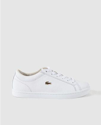 Zapatillas de piel de mujer Lacoste blancas