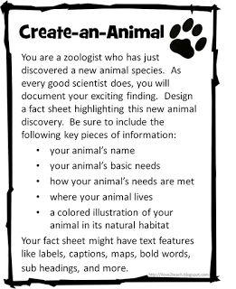 Create-an-Animal & Create-a-Plant 2nd Grade