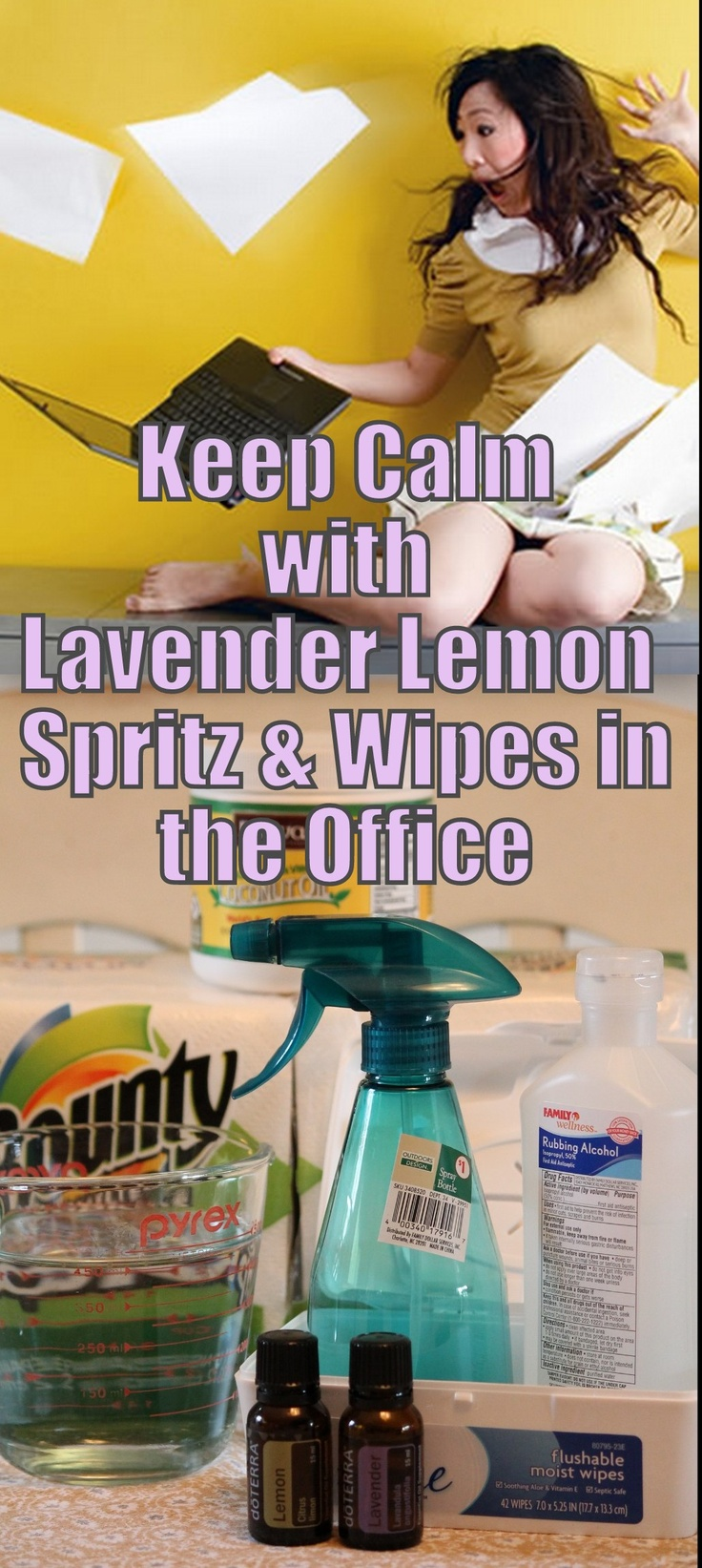 Keep Calm with Lavender Lemon Spritz & Wipes in the Office!