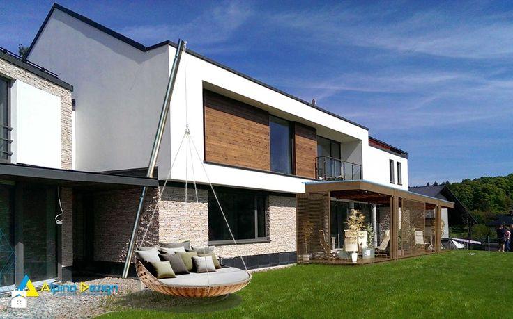 Wizualizacje inwestycji - Ogród, styl nowoczesny - zdjęcie od Alpina Design Ogrody Zimowe & Szkło Architektoniczne