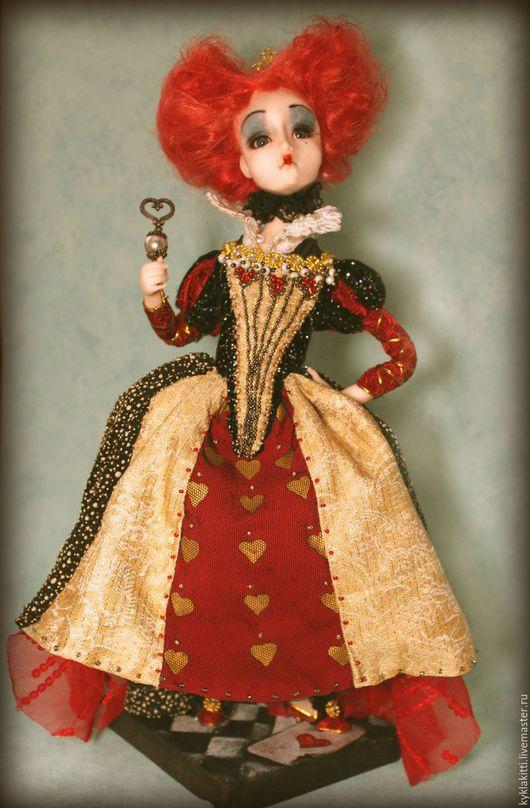 Коллекционные куклы ручной работы. Красная королева. Ездина Екатерина. Ярмарка Мастеров. Королева червей, текстиль, аксессуары