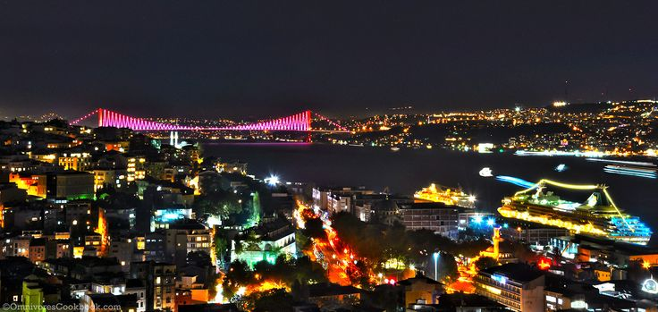 Night view from Galata Tower