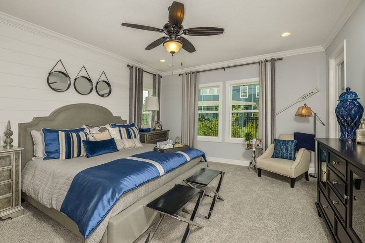 Softly Bold This Master Bedroom Is In Our Bays I Model Bexley A Community Tampa Bay