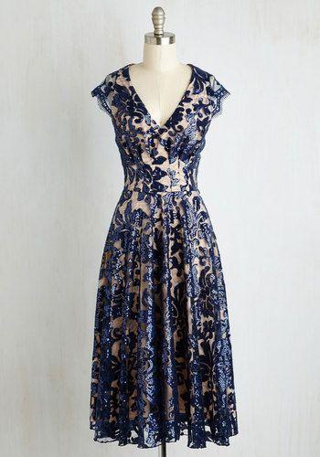 1950s party dress. Pinch Me Im Gleaming Dress in Midnight $239.99 AT vintagedancer.com