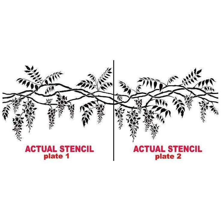 Wisteria Border Stencil - Reusable Stencils for Wall Decor ...