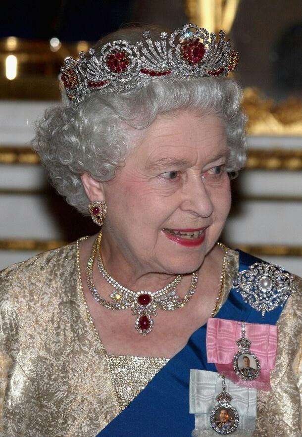 Amongst all the Bling...she wears Queen Victorias Diamond Jubilee