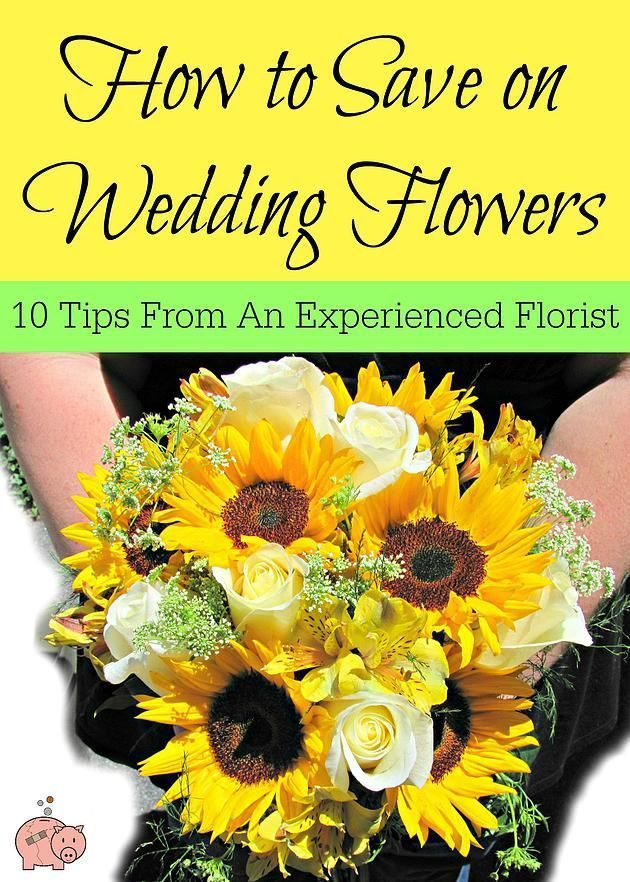 How to Save Money on Wedding Flowers - 10 tips from an experienced florist to save on the flowers for your wedding!