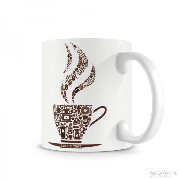 Kubek - Kawa nie pyta - Ceramika - Dekoracje wnętrz