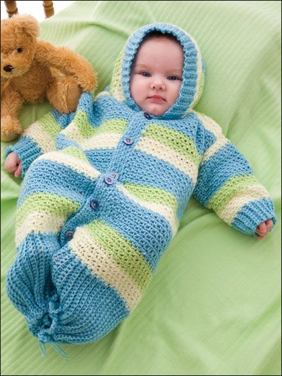 Crochet - Children & Baby Patterns - Wearables Patterns - Hooded Baby Gown $3.29