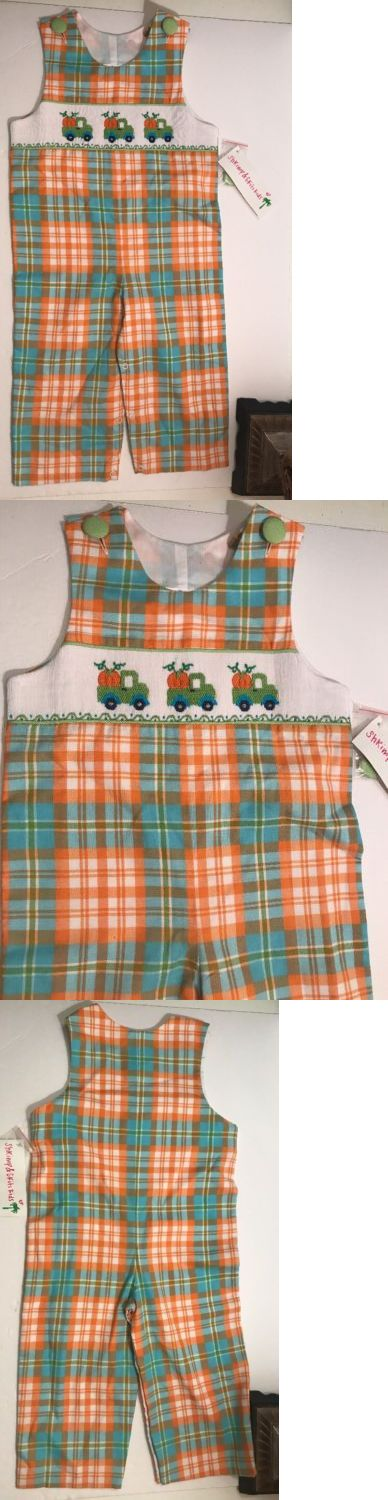 Baby Boys Clothing And Accessories: Nwt Shrimp And Grits Kids Fall Smocked Boy S One Piece Sz 2T Longall Pumpkin -> BUY IT NOW ONLY: $34.99 on eBay!