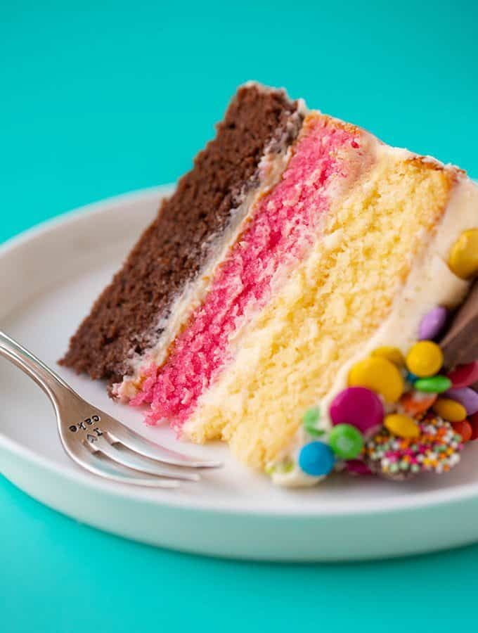 Neapolitan Cake Quick And Easy Sweetest Menu Recipe Cake Recipes No Bake Cake Desserts