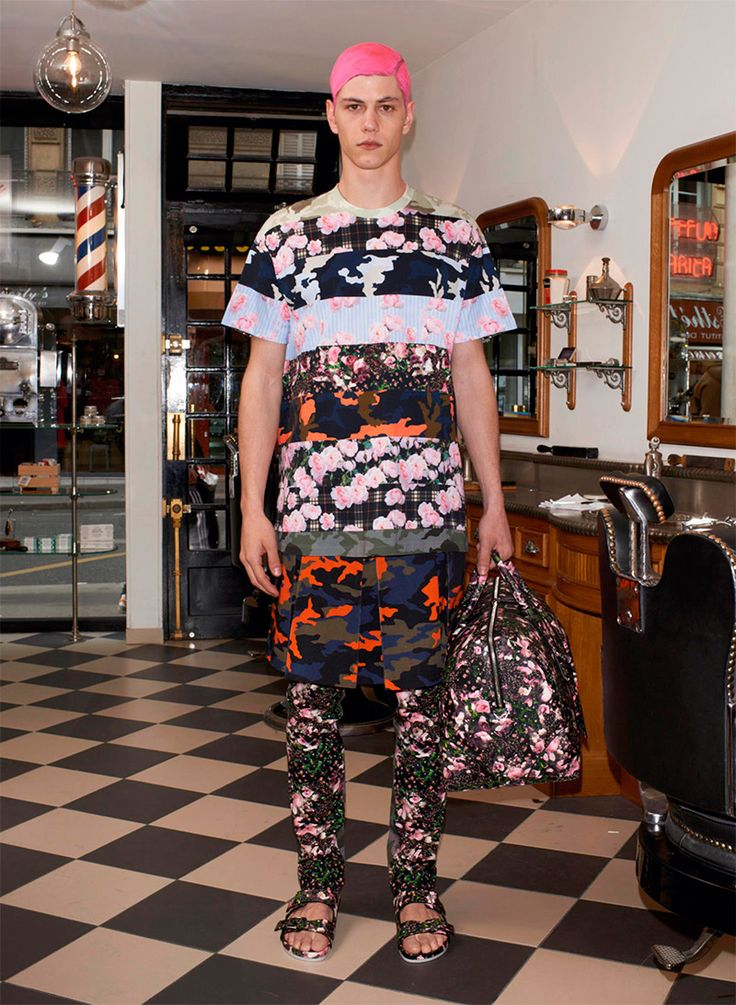 Fashion Trend - Mixing of floral and camo patterns. Givenchy Spring 2014 On WGSN.