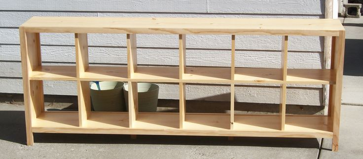 easy cube bookcase plans | built this for a friend of mine - also a client - built it to her ...
