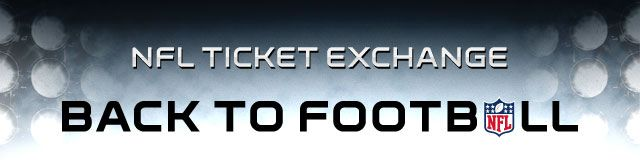"""NFL Ticket Exchange """"Back to Football"""""""