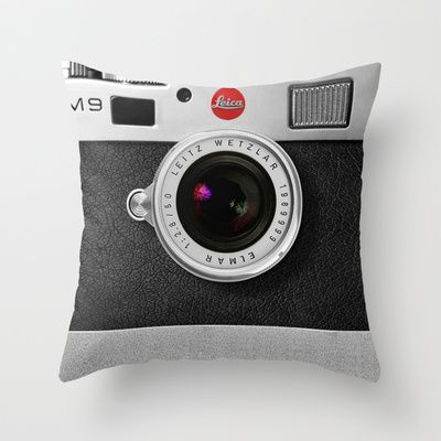 Buy classic retro Black silver Leather vintage camera iPhone 4 4s 5 5c, ipod, ipad case by Three Second as a high quality Throw Pillow. Worldwide shipping…