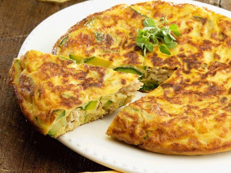 Tortilla espagnole au thon et aux courgettes, facile et pas cher